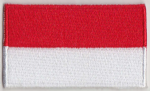 Monaco Embroidered Flag Patch, style 04.